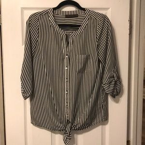 Back and White Striped Blouse (S)